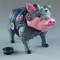 Download free 3D printing designs Sir Pigglesby (a most noble piggy bank), loubie
