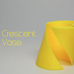 Download free 3D printing models Crescent Vase, O3D