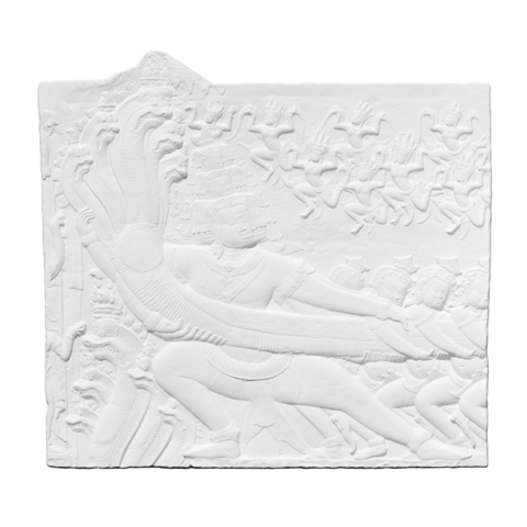 Download free 3D printer files Plaster Cast of a section of the bas-relief of Angkor Wat depicting Samudra Manthan (Churning of the Ocean of Milk), ThreeDScans