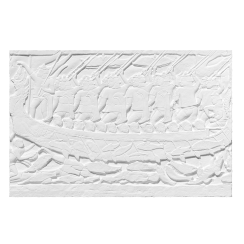 Download free 3D printer templates Plaster Cast of a section of the bas-relief of Bayon depicting a Naval Battle, ThreeDScans
