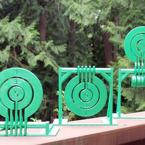 Free 3D printer files Print-in-place target spinners, Zippityboomba