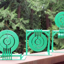 Download free STL file Print-in-place target spinners • 3D print model, Zippityboomba