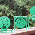 Download free 3D model Print-in-place target spinners, Zippityboomba