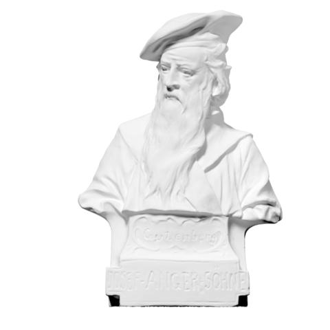 Download free 3D printing models Bust of Gutenberg (Photosculpture), ThreeDScans
