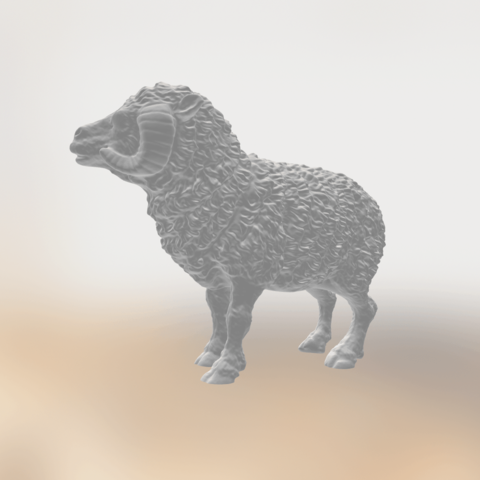 Download free 3D printer templates Sheep, sjpiper145