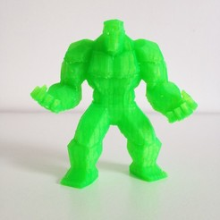 Download 3D printing models Low Poly Hulk v2, sunny