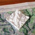 Descargar archivos STL gratis Mapa topográfico del Mont Blanc, Pierre