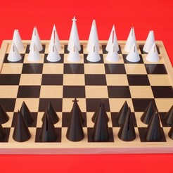 cone-chess-play.jpg Download free STL file Cone Chess • 3D printable model, pureandsimple