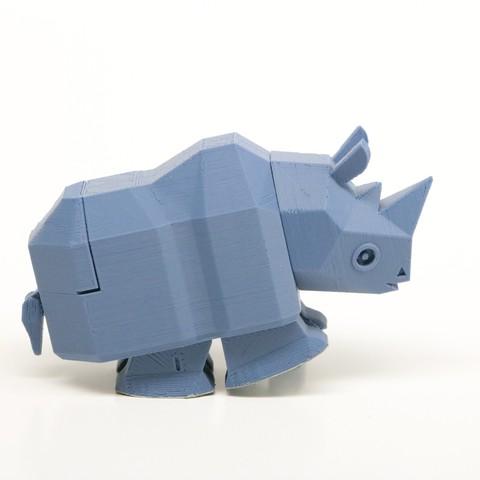 rr003.jpg Télécharger fichier STL La course à pied Rhino • Modèle à imprimer en 3D, Amao