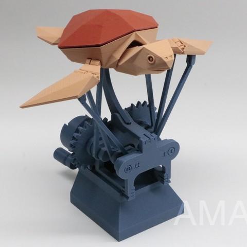 Descargar modelos 3D gratis Tortuga Marina Voladora, Amao