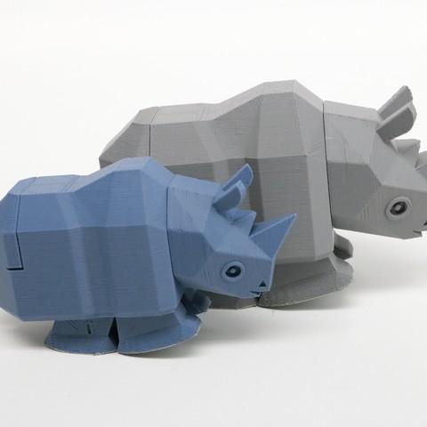 rr001.jpg Télécharger fichier STL La course à pied Rhino • Modèle à imprimer en 3D, Amao