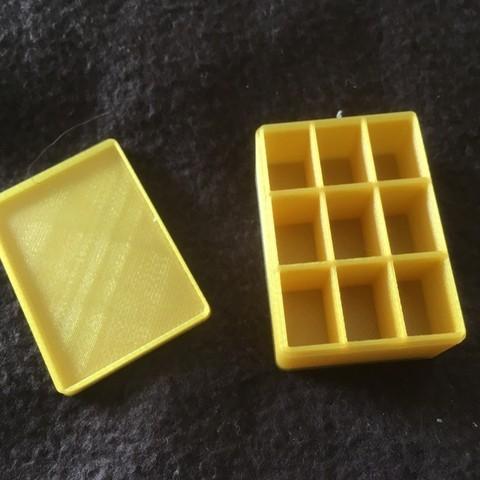 Télécharger modèle 3D Boite de rangement pour le modélisme 50 x 35 x 20 millimètres avec séparateurs, Almisuifre