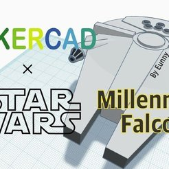 Download free 3D model Simple Millennium Falcon with Tinkercad, Eunny
