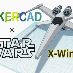 Free STL file Simple X-wing with Tinkercad, Eunny