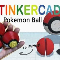 Free STL file Pokemon Ball with Tinkercad, Eunny