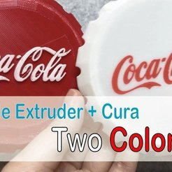 Download free 3D printer files Coca-cola Cap - One end but two color!!, Eunny