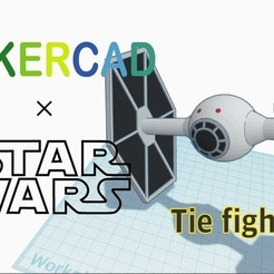 Download free 3D printer model Simple Tie Fighter with Tinkercad, Eunny