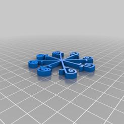 Snowflake4.png Télécharger fichier STL gratuit Flocon de neige avec Tinkercad • Design imprimable en 3D, Eunny