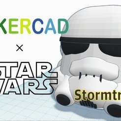 Free STL files Simple Stormtrooper with Tinkercad, Eunny