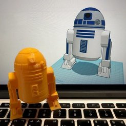 Download free STL Simple R2D2 with Tinkercad, Eunny
