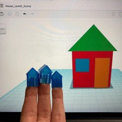 Free 3D print files House Level1 with Tinkercad, Eunny