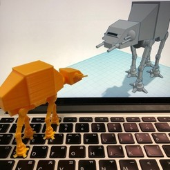 Download free 3D printing templates Simple AT-AT with Tinkercad, Eunny