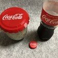 Download free STL files BIG Coca cola cap, Eunny