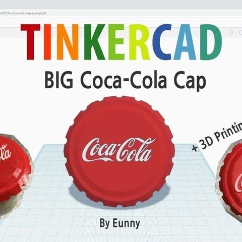 34ef8d7fe378f6c32ad83a91a6fdc1ac_display_large.jpg Download free STL file BIG Coca cola cap • 3D printable model, Eunny
