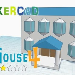 Free 3D printer model House 4_ Level 2 with Tinkercad, Eunny