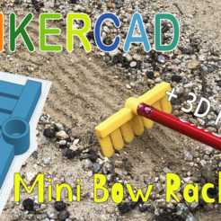 Download free 3D printing models Mini Bow Rack with Pencil Toy & Tinkercad, Eunny