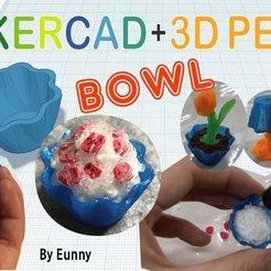 Descargar diseños 3D gratis Bol en miniatura con Tinkercad + bolígrafo 3D, Eunny