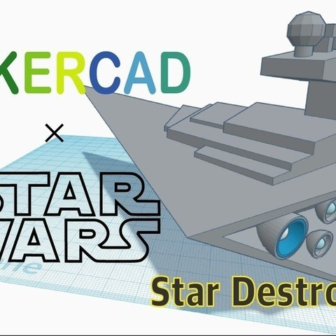 Download free 3D print files Simple Star Destroyer with Tinkercad