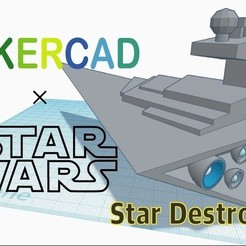 Free 3D print files Simple Star Destroyer with Tinkercad, Eunny