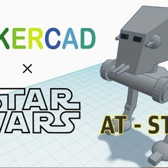 Download free 3D model Simple AT-ST with Tinkercad, Eunny