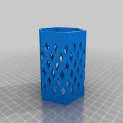 Download free 3D printer designs Diamond Pattern with Tinkercad, Eunny
