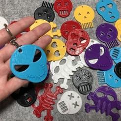 IMG_8552.jpeg Télécharger fichier STL gratuit Porte-clés tête de mort avec Tinkercad pour Halloween • Modèle à imprimer en 3D, Eunny