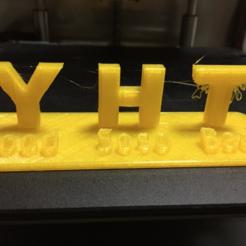 """Free 3d printer model """"YHT Rule"""" for teaching of FDM 3D printer, Eunny"""