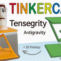 -중력-14.png Télécharger fichier STL gratuit Tensegrity Antigravité avec Tinkercad • Design à imprimer en 3D, Eunny