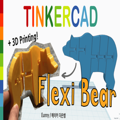 Download free 3D model Flexible Bear with Tinkercad, Eunny