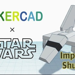 Download free STL files Simple Imperial Shuttle with Tinkercad, Eunny