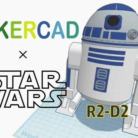 478d490a964eb63370f978a578f453f3_display_large.jpg Download free STL file Simple R2D2 with Tinkercad • 3D print design, Eunny