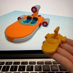 Free 3D printer model Simple Landspeeder with Tinkercad, Eunny
