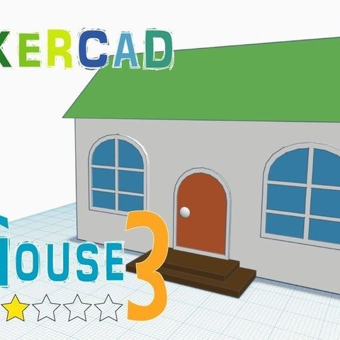 Free STL House 3 _Level 2 with Tinkercad, Eunny