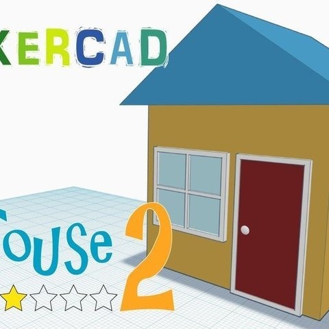 Free 3D model House 2 _Level 2 with Tinkercad, Eunny