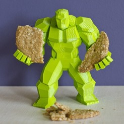 Plan 3D Hulk en Low Poly V2, Pepo_Aliaga