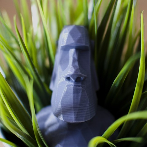 Free 3D printer files Low Poly Moai, Pepo_Aliaga
