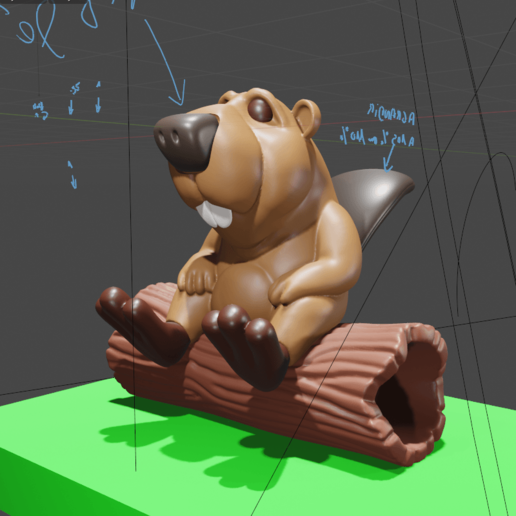 castor08.png Download STL file BOB the Beaver • 3D printable template, didoff