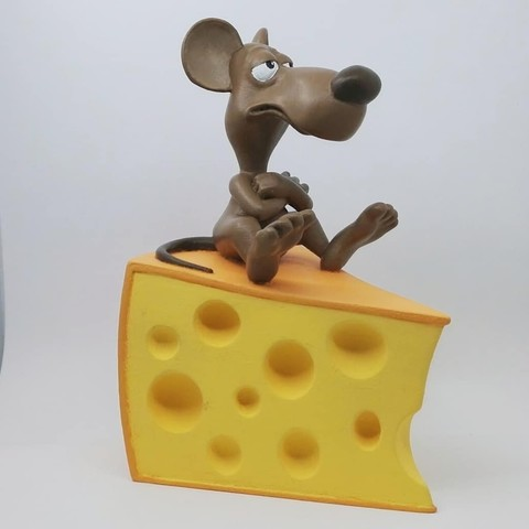 3D printing model A rat on a cheese, didoff
