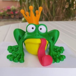 IMG_20200918_155012.jpg Download STL file CROAAA, the frog with a crown. • 3D printable object, didoff