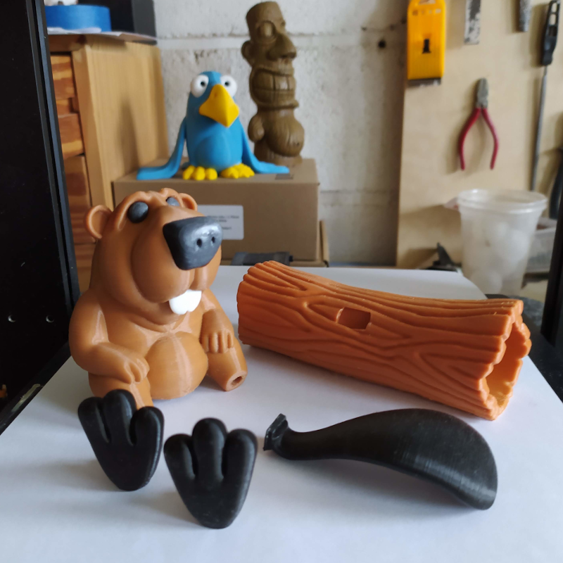 castor07.png Download STL file BOB the Beaver • 3D printable template, didoff